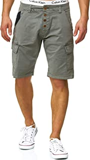Indicode Homme Hedworth Cargo Short Chino avec 7 Poches 98% Coton   Court Stretch Pantalon Regular Fit Bermuda Homme Men ...