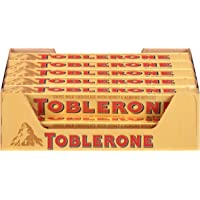 20 Pack Toblerone Swiss Milk Chocolate with Honey & Almond Nougat 3.52 Ounce Bars