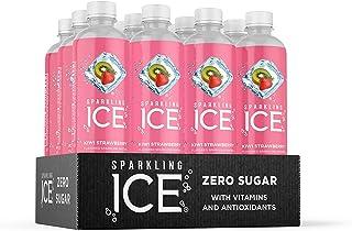 Sparkling Ice, Kiwi Strawberry Sparkling Water, with Antioxidants and Vitamins, Zero Sugar, 17 fl oz Bottles (Pack of 12)