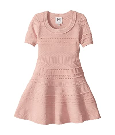 Milly Minis Textured Tech Dress (Big Kids) (Dahlia) Girl