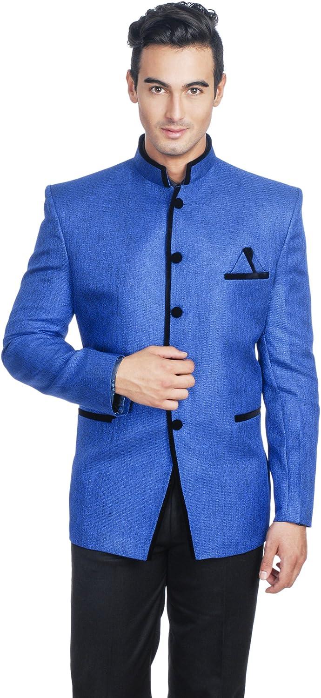 WINTAGE Men's Rayon Bandhgala Party Nehru Mandarin Blazer - Two Colors