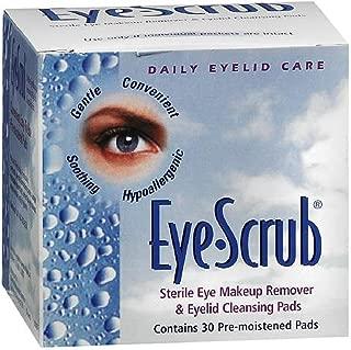 Eye Scrub Sterile Eye Makeup Remover & Eyelid Cleansing Pads 30 ea (Pack of 4)