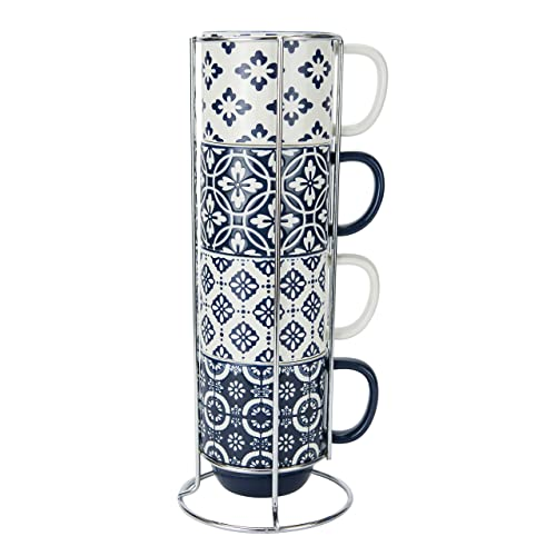 Stackable Coffee Mugs With Rack Amazon Com