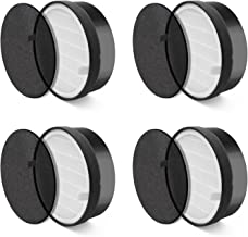 LEVOIT LV-H132-RF 4Pack Air Purifier LV-H132 Replacement, True HEPA and Activated Carbon Filters Set, 4 Pack