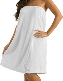 Sponsored Ad - robesale Terry Bath Wrap for Ladies - Spa Wrap for Women - White - One Size