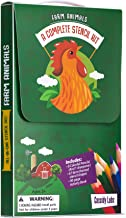 Farm Animal Themed Stencil Drawing Kits in Carrying Case - Lots of Stencils for Kids Includes Colored Pencils, Activity Book, Sharpener …