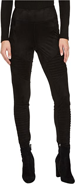 Madelyn Faux Suede Moto Leggings