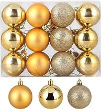ZOGIN Christmas Ball Ornaments,Assorted Pendant Shatterproof Christmas Baubles Balls Ornaments Set Seasonal Decorations fo...