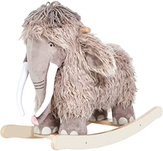 labebe - Plush Rocking Horse, Mammoth Rocker, Stuffed Rocker Toy for Child 1-3 Year Old, Kid Ride On Toy Wooden, Rocking Animal for Infant/Toddler Girl&Boy, Nursery Birthday Gift