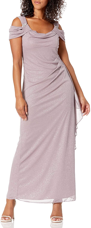 R&M Richards Women's 1 PCE Glitter Party Dress
