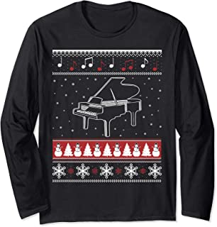 Piano Ugly Christmas Sweater Style T Shirt