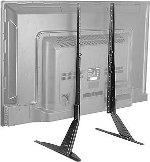 (70cm - 140cm - Steel Leg Stand) - VIVO Universal LCD Flat Screen TV Table Top Stand / Base Mount fits 70cm - 140cm T.V. (...