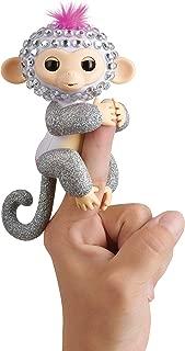 WowWee Fingerlings Monkeys - Fingerblings - Sparkle (White/Silver) - Friendly Interactive Toy