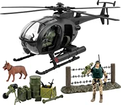 Click N' Play Military Attack Combat Helicopter 20 Piece Play Set with Accessories.