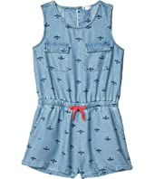 Bee Print Romper (Big Kids)