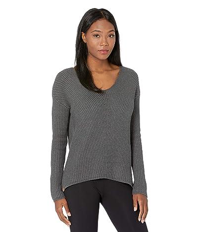 tentree Highline Cotton V-Neck Sweater (Dark Grey Heather) Women