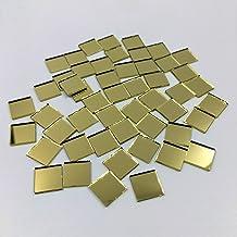 """3/8 """"Vierkante Spiegel Mozaïek Tegels Goud Gekleurde Craft Spiegels 200 Stuks"""