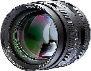 Brightin Star 50mm F1.4 APS-C Large Aperture Manual Focus Lens for Micro 4/3 MFT M4/3 Olympus and Panasonic Digital Mirrorless Cameras (Panasonic/Olympus, Black)