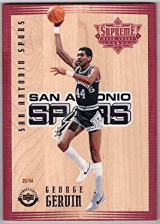 George Gervin 2016-17 Upper Deck Authenticated Supreme Hard Court 5