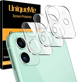 [ 3 Pack ] UniqueMe Camera Lens Protector for iPhone 11 Tempered Glass [High Definition] Scratch Resistant 6.1""
