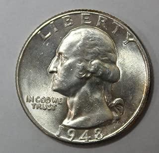1948 D Washington Silver Quarter 25c Brilliant Uncirculated