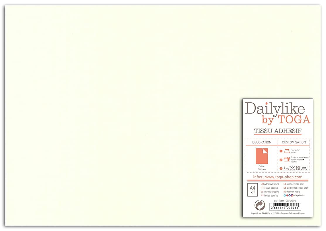 Dailylike lkf136u Sheet Adhesive Fabric Plain Cotton 30?x 21.5?x 0.1?cm
