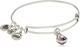Alex and Ani Birth Month Charm with Swarovski Crystal Bangle Bracelet