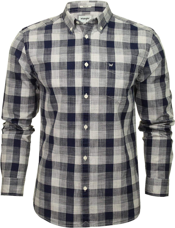 Wrangler Camisa de manga larga con botones para hombre