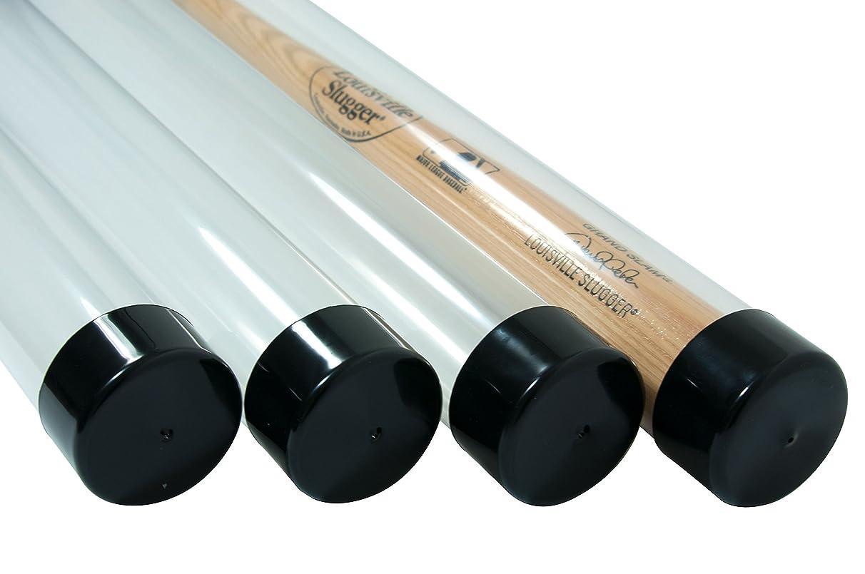SAFTGARD SUPPLIES (4) Baseball Bat Tube Clear Acrylic Display Case Protective Holders