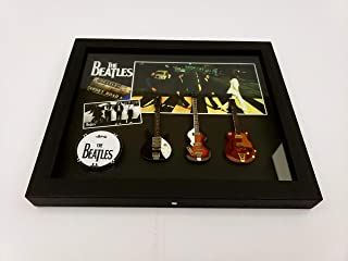 The BEATLES shadow box with miniature guitars