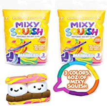 Mixy Squish Marbled Textured Air Dry Clay by Horizon Group USA, Pack of 2. Includes 3 Colors. Stretch It, Sculpt It, Squis...