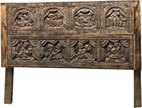 Mogul Interior Vintage Headboard Kamasutra Indian Carved King Headboard Beautiful Parody of Love Colorful Boho Chic Design