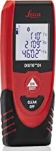 Leica DISTO D1 130ft Laser Distance Measure with Bluetooth 4.0, Black/Red
