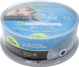 Millenniata Inc. M-DISC 25GB Blu-ray Media - 15 Disc Cake Box