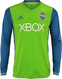 adidas Men`s MLS Cllimacool Authentic Long Sleeve Jersey, Multiple Teams