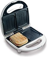 Domo DO9041C Sandwich-broodrooster bakt 2 sandwiches tegelijkertijd in schelpbakvorm, baklampje voor optimale en gelijkmat...