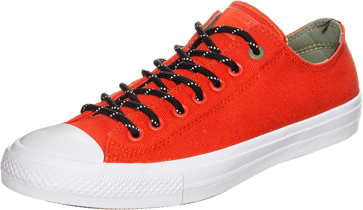 Mens Converse Chuck Taylor All Star II Shield Red Canvas Trainers 153539C