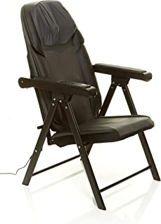 Sharper Image Foldable Massage Chair, Shiatsu Back Massager, Muscle Kneading, Folds..