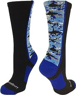 Digital Camo Shark Socks Crew