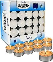 شمع إضاءة شاي Hyoola - عبوة مكونة من 200 شمعة كبيرة - ضوء شاي بزيت النخيل الطبيعي - شموع شموع شموع ذات جودة أوروبية بيضاء ...