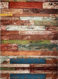 1.5 × 2.1 متر / 5 × 7 قدم فينيل خلفية تصوير خشبي d صورة طفل عيد ميلاد حفل زفاف استوديو فوتوبوث الديكور