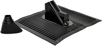 Technisat Alu Dachziegel Set Mit Gummitülle Zur Wasserdichten Mast Und Kabeldurchführung 450 X 500mm Schwarz Heimkino Tv Video