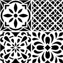 Artemio Tegel cement bloemen sjabloon huis decoratie, kunststof, meerkleurig, 30 x 30 x 1 cm