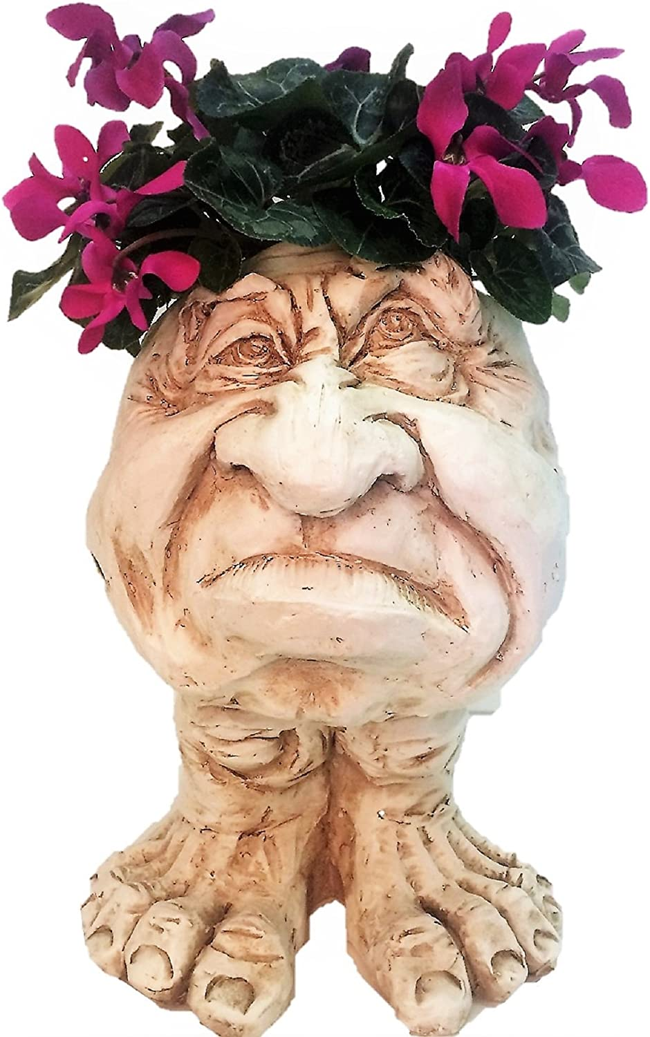 Homestyles 18 in. Antique White Super-cheap Grumpy Muggly Pl Statue Detroit Mall The Face