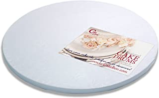 Cake Drums Round 14 Inches - Sturdy 1/2 Inch Thick - Professional Smooth Straight Edges (White, 1-Pack)