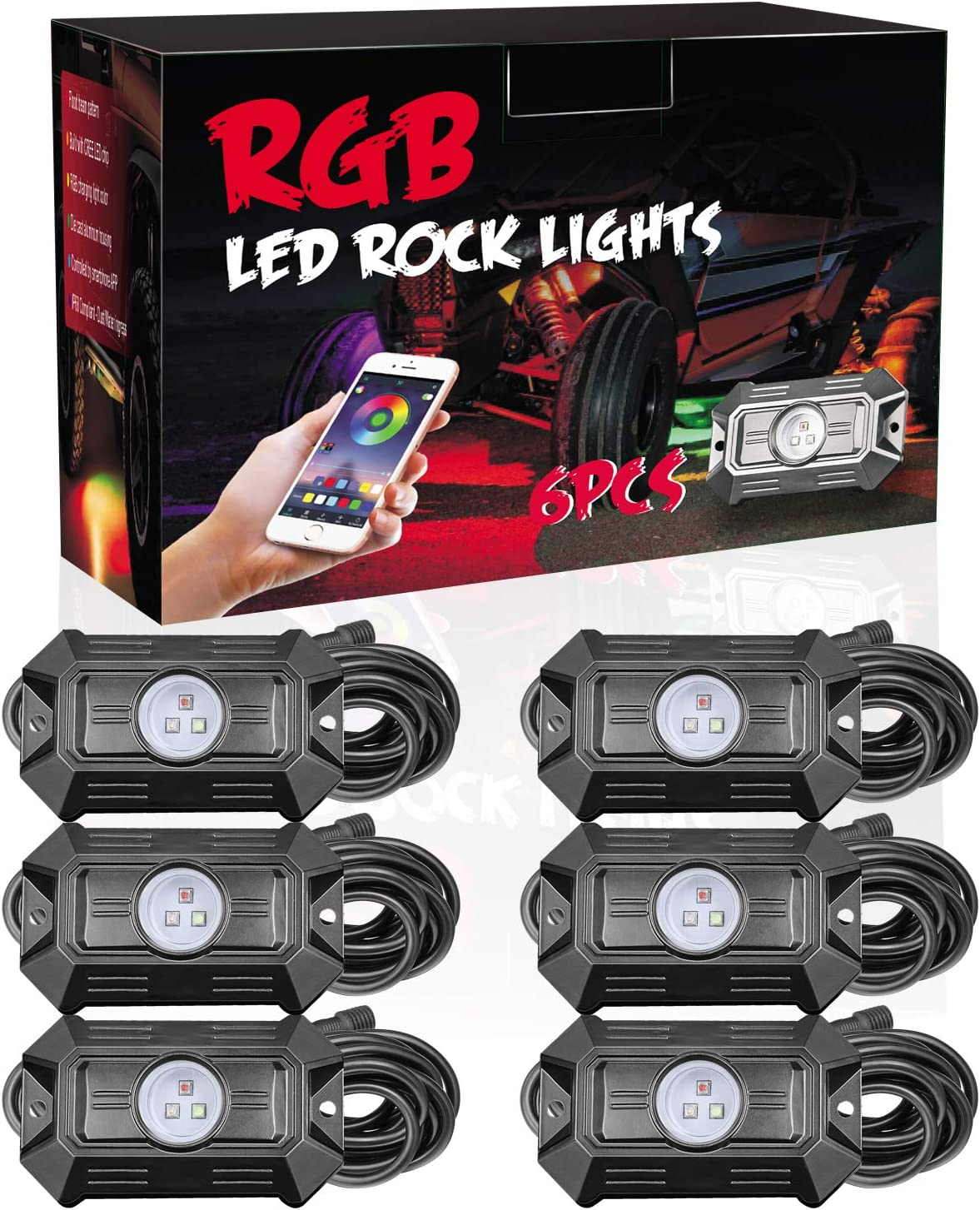 Elegant RGB Cheap mail order specialty store Rock Lights DJI 4X4 Underglow with Kits Blue Light LED