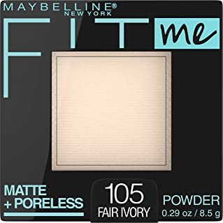 Maybelline New York Fit Me Matte + Poreless Pressed Face Powder Makeup, Fair Ivory, 0.29 Ounce,...