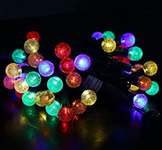 50 Count LED Christmas Mini Light Set G20 String Lights for Indoor/Outdoor Christmas Tree Garden Patio Holiday Party Decorations 120V UL Certified 17FT Green Wire (G20 Bulble- Multi Color)