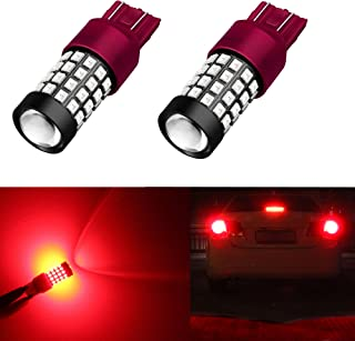 Alla Lighting 1000Lm 51-SMD Extremely Super Bright T20 W21W 7441 7443 7440 LED Bulbs Pure Red High Power 2835 Chipsets LED Rear Turn Signal or Brake Stop Lights Lamps Replacement