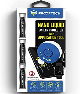 ProofTech Liquid Glass Screen Protector with Application Tool for All Smartphones Tablets and Watches Wipe On Nano Protect...